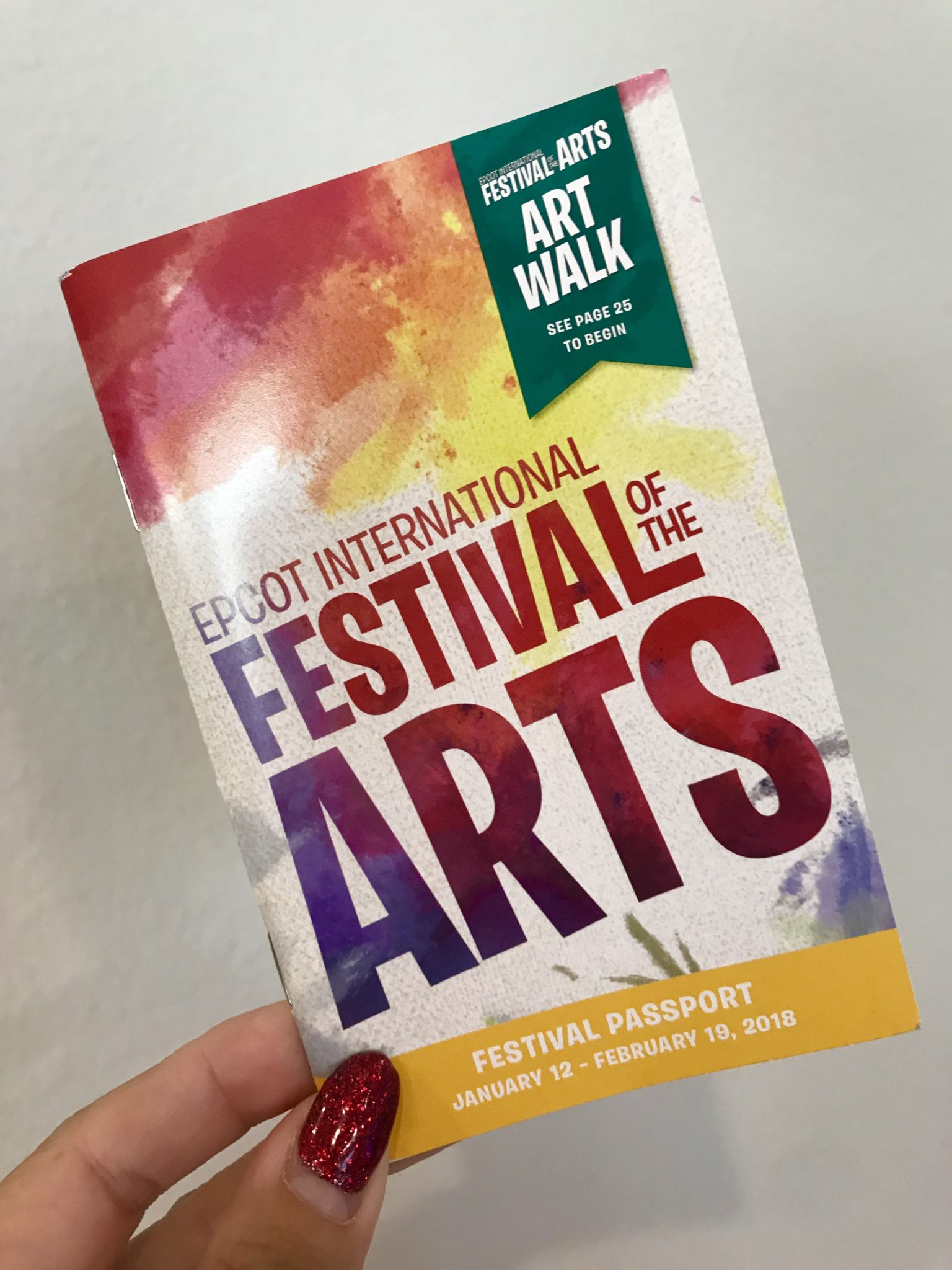 Epcot International Festival of the Arts Festival Passport