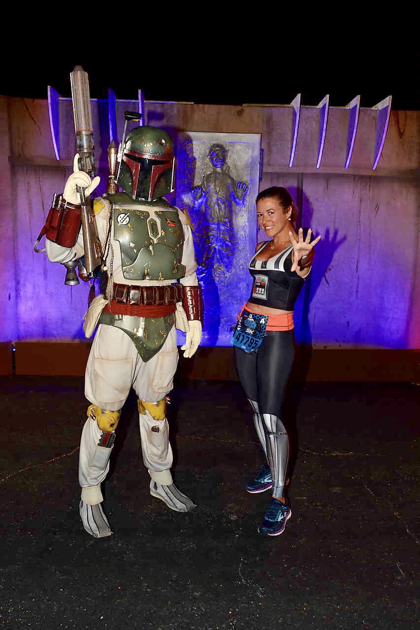 ark Side Race Weekend runDisney First Order Challenge Boba Fett